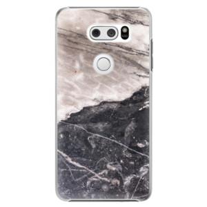 Plastové pouzdro iSaprio BW Mramor na mobil LG V30