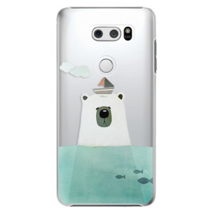 Plastové pouzdro iSaprio Medvěd s Lodí na mobil LG V30