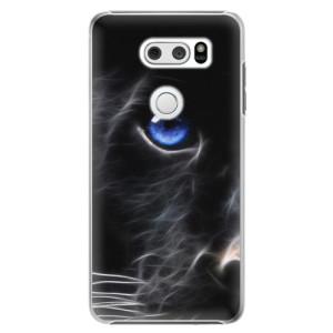Plastové pouzdro iSaprio Black Puma na mobil LG V30