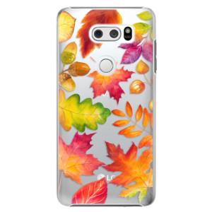 Plastové pouzdro iSaprio Podzimní Lístečky na mobil LG V30