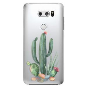 Plastové pouzdro iSaprio Kaktusy 02 na mobil LG V30