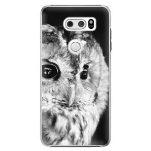 Plastové pouzdro iSaprio BW Sova na mobil LG V30