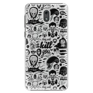Plastové pouzdro iSaprio Komiks 01 black na mobil Nokia 2