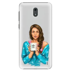 Plastové pouzdro iSaprio Coffee Now Brunetka na mobil Nokia 2