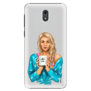 Plastové pouzdro iSaprio Coffee Now Blondýna na mobil Nokia 2