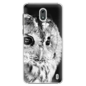 Plastové pouzdro iSaprio BW Sova na mobil Nokia 2