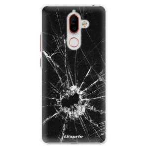 Plastové pouzdro iSaprio Broken Glass 10 na mobil Nokia 7 Plus
