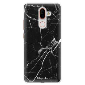 Plastové pouzdro iSaprio Black Marble 18 na mobil Nokia 7 Plus