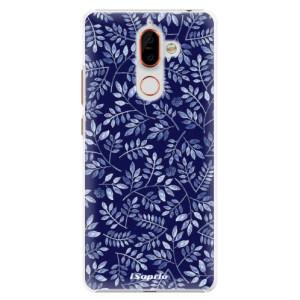 Plastové pouzdro iSaprio Blue Leaves 05 na mobil Nokia 7 Plus