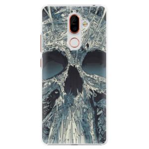 Plastové pouzdro iSaprio Abstract Skull na mobil Nokia 7 Plus