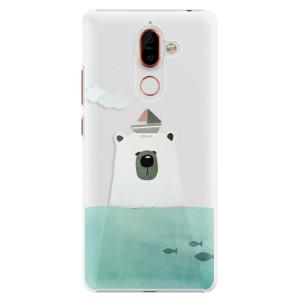 Plastové pouzdro iSaprio Medvěd s Lodí na mobil Nokia 7 Plus