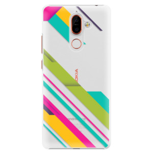 Plastové pouzdro iSaprio Barevné Pruhy 03 na mobil Nokia 7 Plus