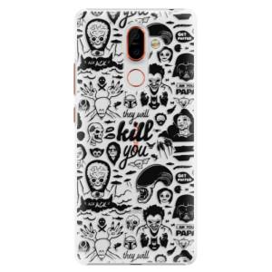 Plastové pouzdro iSaprio Komiks 01 black na mobil Nokia 7 Plus