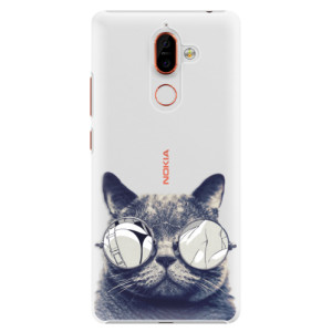 Plastové pouzdro iSaprio Šílená Číča 01 na mobil Nokia 7 Plus