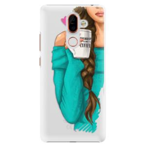 Plastové pouzdro iSaprio Brunetka s kafčem na mobil Nokia 7 Plus