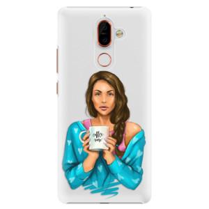Plastové pouzdro iSaprio Coffee Now Brunetka na mobil Nokia 7 Plus