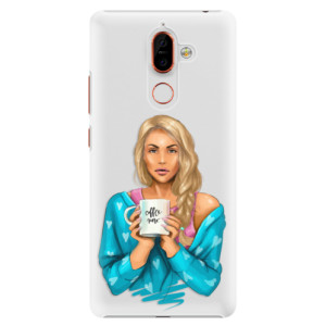 Plastové pouzdro iSaprio Coffee Now Blondýna na mobil Nokia 7 Plus