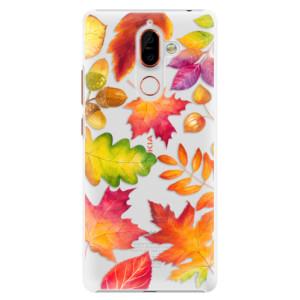 Plastové pouzdro iSaprio Podzimní Lístečky na mobil Nokia 7 Plus