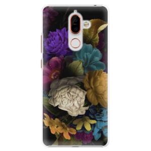 Plastové pouzdro iSaprio Temné Květy na mobil Nokia 7 Plus