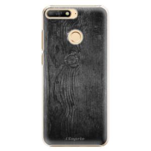 Plastové pouzdro iSaprio Black Wood 13 na mobil Huawei Y6 Prime 2018