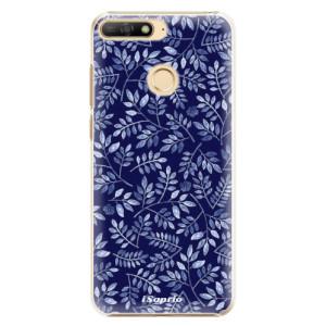 Plastové pouzdro iSaprio Blue Leaves 05 na mobil Huawei Y6 Prime 2018