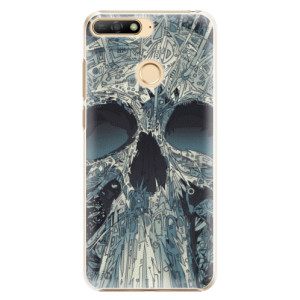 Plastové pouzdro iSaprio Abstract Skull na mobil Huawei Y6 Prime 2018