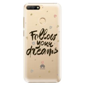 Plastové pouzdro iSaprio Follow Your Dreams černý na mobil Huawei Y6 Prime 2018