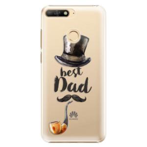 Plastové pouzdro iSaprio Best Dad na mobil Huawei Y6 Prime 2018