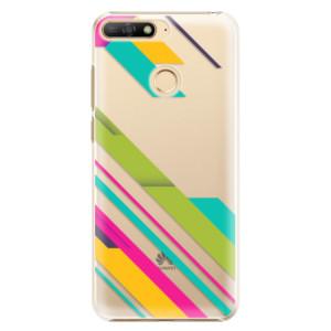 Plastové pouzdro iSaprio Barevné Pruhy 03 na mobil Huawei Y6 Prime 2018