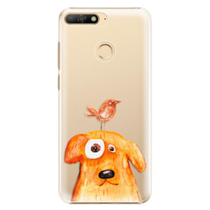Plastové pouzdro iSaprio Pejsek a Ptáček na mobil Huawei Y6 Prime 2018