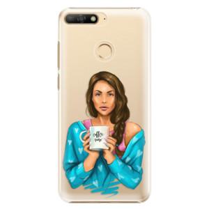 Plastové pouzdro iSaprio Coffee Now Brunetka na mobil Huawei Y6 Prime 2018
