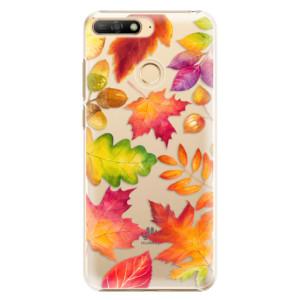 Plastové pouzdro iSaprio Podzimní Lístečky na mobil Huawei Y6 Prime 2018