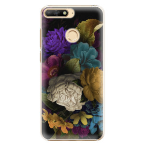 Plastové pouzdro iSaprio Temné Květy na mobil Huawei Y6 Prime 2018