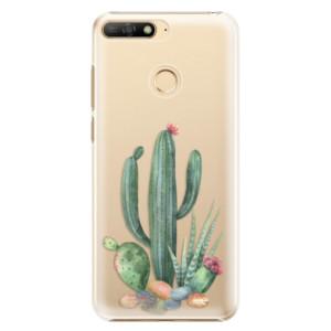 Plastové pouzdro iSaprio Kaktusy 02 na mobil Huawei Y6 Prime 2018