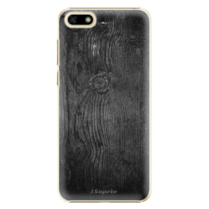 Plastové pouzdro iSaprio Black Wood 13 na mobil Huawei Y5 2018