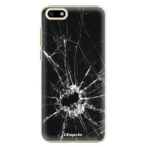 Plastové pouzdro iSaprio Broken Glass 10 na mobil Huawei Y5 2018