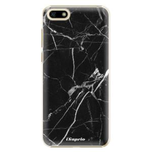 Plastové pouzdro iSaprio Black Marble 18 na mobil Huawei Y5 2018