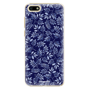 Plastové pouzdro iSaprio Blue Leaves 05 na mobil Huawei Y5 2018
