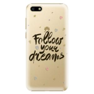 Plastové pouzdro iSaprio Follow Your Dreams černý na mobil Huawei Y5 2018