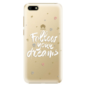 Plastové pouzdro iSaprio Follow Your Dreams bílý na mobil Huawei Y5 2018