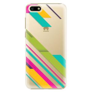 Plastové pouzdro iSaprio Barevné Pruhy 03 na mobil Huawei Y5 2018