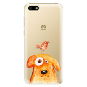 Plastové pouzdro iSaprio Pejsek a Ptáček na mobil Huawei Y5 2018