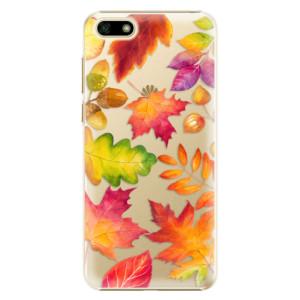 Plastové pouzdro iSaprio Podzimní Lístečky na mobil Huawei Y5 2018