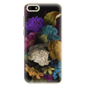 Plastové pouzdro iSaprio Temné Květy na mobil Huawei Y5 2018