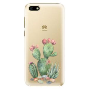 Plastové pouzdro iSaprio Kaktusy 01 na mobil Huawei Y5 2018