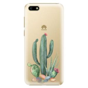 Plastové pouzdro iSaprio Kaktusy 02 na mobil Huawei Y5 2018