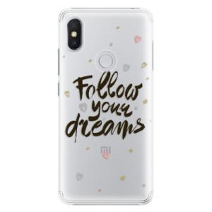 Plastové pouzdro iSaprio Follow Your Dreams černý na mobil Xiaomi Redmi S2