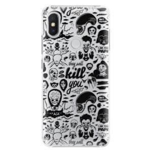 Plastové pouzdro iSaprio Komiks 01 black na mobil Xiaomi Redmi S2