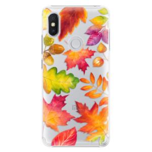 Plastové pouzdro iSaprio Podzimní Lístečky na mobil Xiaomi Redmi S2