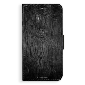 Flipové pouzdro iSaprio Black Wood 13 na mobil Apple iPhone X